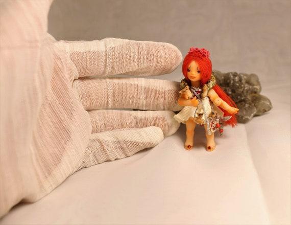 Miniature 1:24 Little Foxberry OOAK BJD art doll by Julia Arts Künstler- & handgemachte Puppen