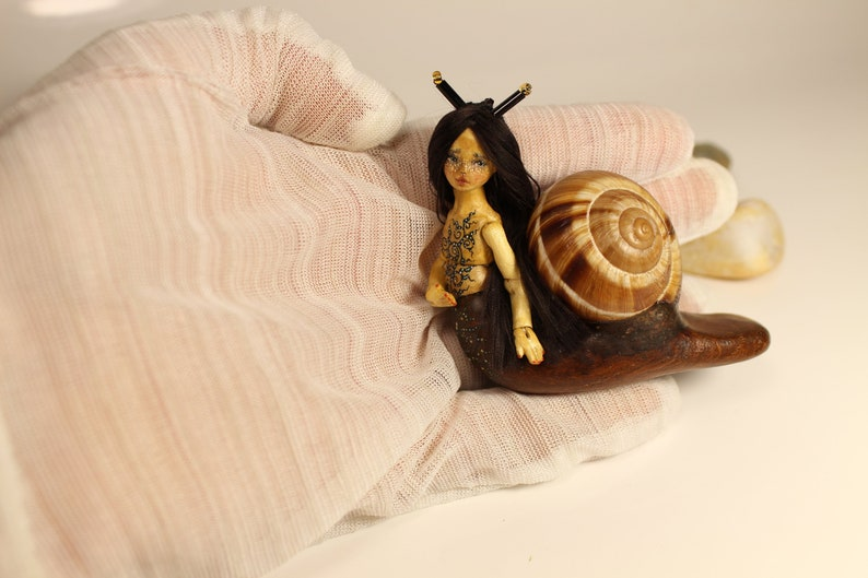 Miniature 1:24 Little Foxberry OOAK BJD art doll by Julia Arts Puppen & Zubehör