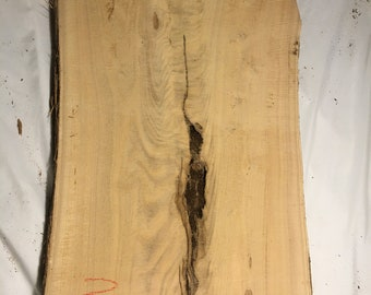 Locust Live Edge Wood Slab Beautiful Character 40 by 24 to 19 by 2