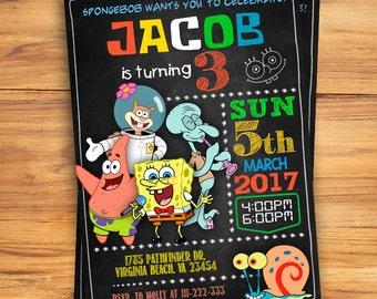 Spongebob invitation etsy spongebob invitation spongebob birthday invitation spongebob spongebob printable spongebob card spongebob invite filmwisefo