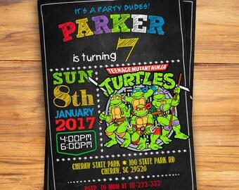 Ninja Turtles Invitation / Ninja Turtles Birthday / Ninja Turtles Invite / Ninja Turtles Party / Ninja Turtles Birthday Invitation / Ninja
