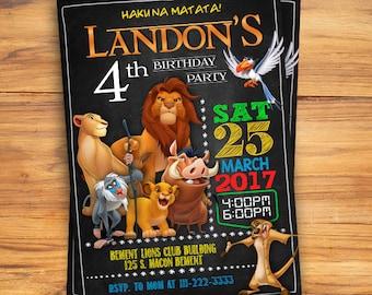 Lion invitations Etsy