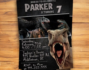 Jurassic World Invitation / Jurassic World Birthday Invitation / Jurassic Wold / Jurassic World Party / Jurassic World Card / Jurassic Park