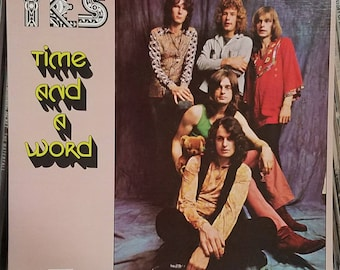 Yes Time And A Word Original Inner Sleeve Contemporary Pop Progressive Garage Rock LP Atlantic Records SD-8273 Bill Bruford Chris Squire