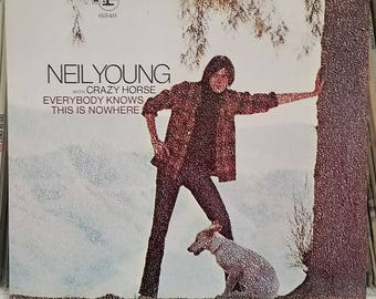 Neil Young Crazy Horse Everybody Knows This Is Nowhere Rock LP Cinnamon Girl Gatefold & Insert Respise