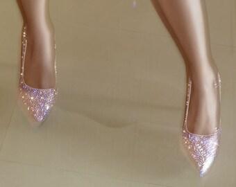 7c75e6b6ad86 Servizio di abbellimento per avere le tue scarpe cristalli originali di  Swarovski