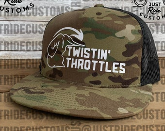 3b0660aa Adult Twistin Throttles Snapback - Dirt Bikes Motocross Motorcycle Moto Mom  Racing Dirt Track Bicycle Supercross Moto Girl Moto Chick