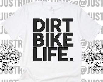 2edb7761ea33 Dirt Bike Life Custom Tee Hat Coozie- Dirt Bike T-Shirt Toddler Birthday  Bike Moto Motorcycle Kid Strider Bicycle Motocross Dirt Bikes