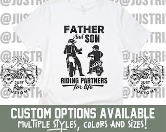 74ea6c149 Father And Son Riding Partners For Life Custom Tee Hat Coozie - Dirt Bike  Dad Fathers Day Moto Dad Motocross Freestyle Supercross SX