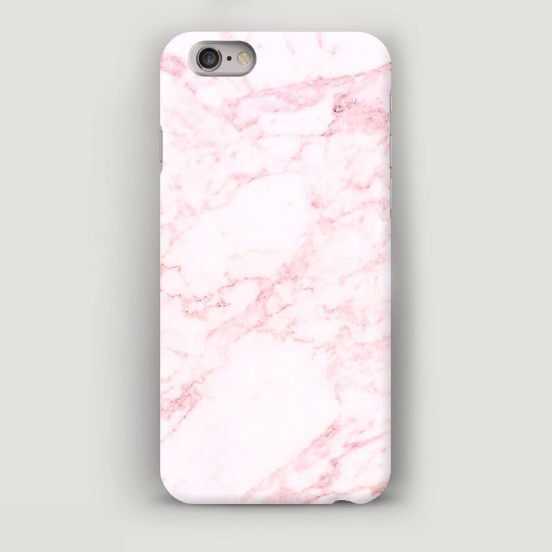 size 40 59828 9a3de Pink Marble iPhone 7 Case, iPhone 6 Plus Case, Soft Pink Phone Case, Stone  iPhone SE Case, Gift for Wife, Cute Apple Case, 6S Case