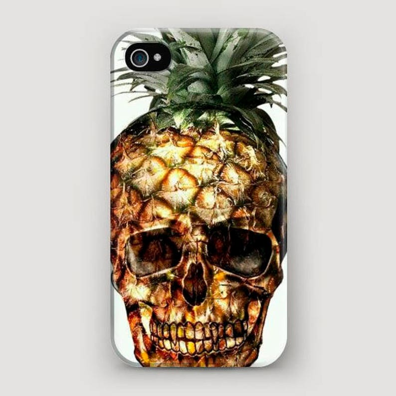 online retailer f1e78 08580 Pineapple Phone Case, Scull iPhone 5 Case, Galaxy S7 Case, iPhone 7 Cover,  Apple Case, Cool iPhone Case, iPhone 6S Phone Case, 5S Case