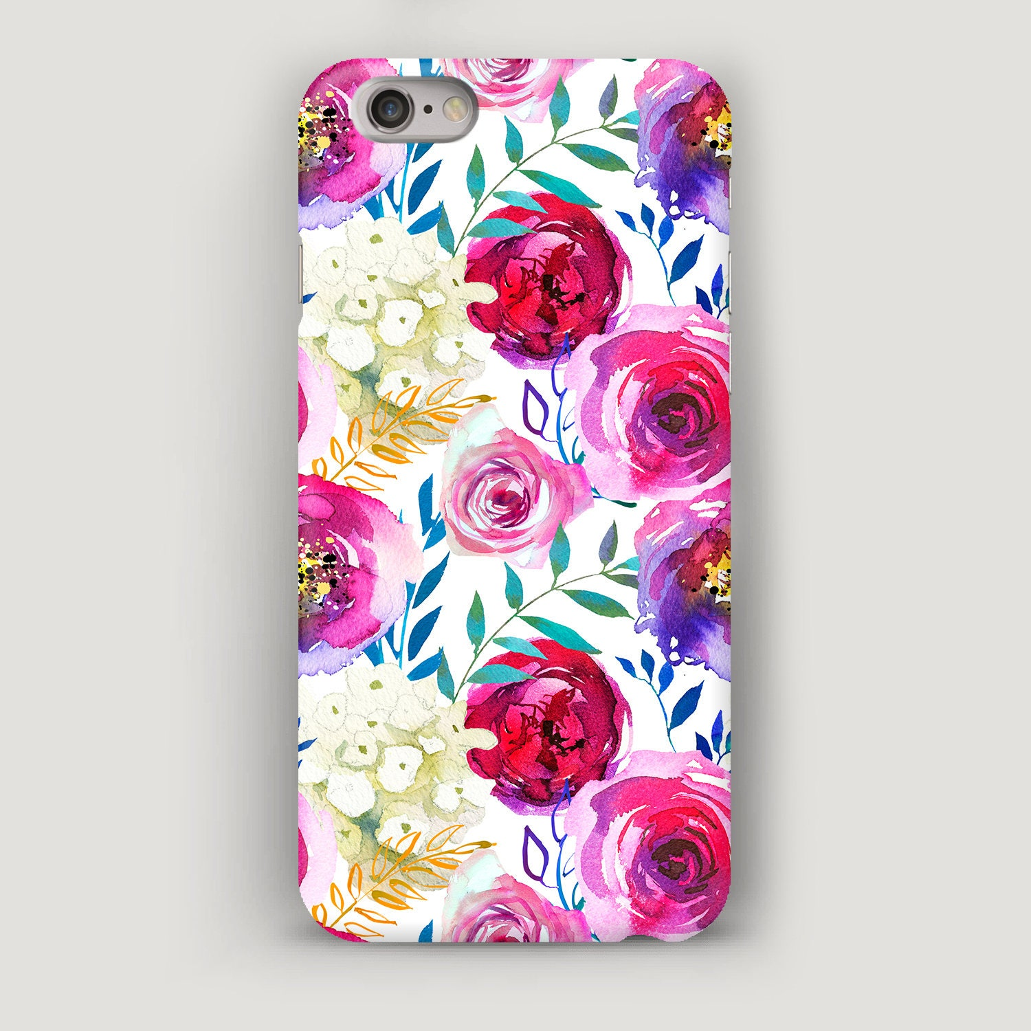 Watercolor Pattern Phone Case Floral Iphone 6s Plus Case Etsy
