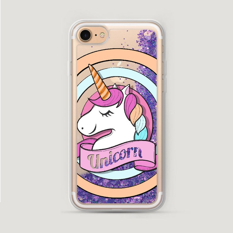 Glitter unicorn case Etsy