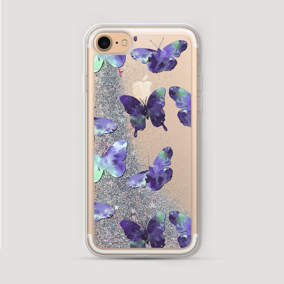 Butterflies iPhone 7 Plus Case Glitter Watercolor iPhone 6S  5dc94b4fc42d