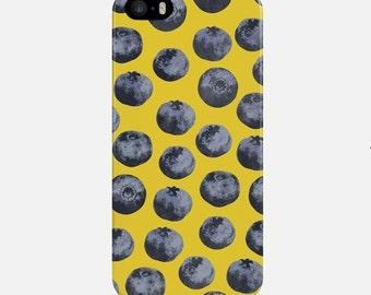 Blueberry telefoon geval, gele iPhone Case, iPhone 6s Case, iPhone 6 Plus Case, iPhone 7 Case, iPhone 7 Plus Case, iPhone 5 Case, iPhone Case