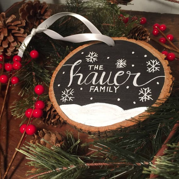Personalized Christmas Ornaments Family Ornament Custom Ornament Christmas Ornament Holiday Ornaments Wood Christmas Ornaments
