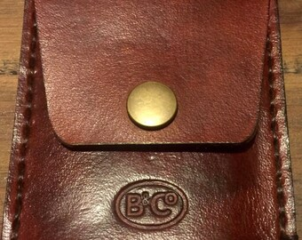 Handmade Leather mens wallet in  brown