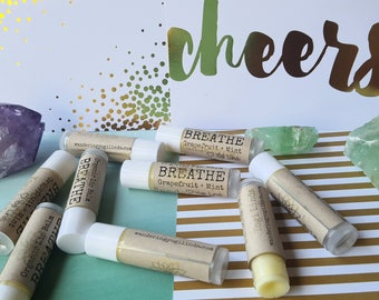 Organic & All-Natural Lip Balm (Healthy, SPF, Tinted Lip Balm, Coconut Oil, Beeswax, Shea Butter, Gifts, Yoga, Essential Oils)