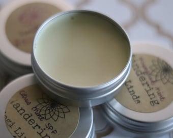 Lip Balm Tin (Chapstick, Shea Butter, Salve, All Purpose, Gift, Natural, Organic, Eco Friendly, Essential Oils, Coconut Oil) 1 oz