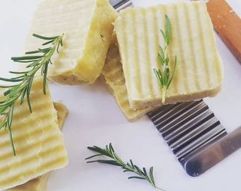 All Natural Shea Butter Soap (Palm-free, Sulfate-free, Organic, Moisturizing, Vegetarian, Homemade, Hot Processed, Cocoa Butter, Lathering)