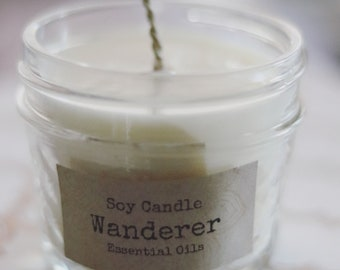 All-Natural Soy Candle in recycled jar (hand-poured, beeswax hemp wick)