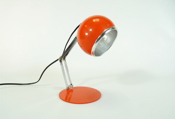 Lampe De Bureau Vintage 70 S Lampe Lampe De Table Vintage Etsy