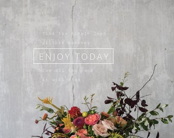 Enjoy Today Wall Art || Make your wall happy with this 12X16 wall hanging