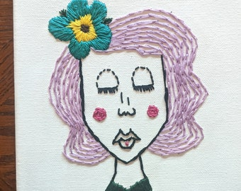 Fiona hand embroidery on canvas