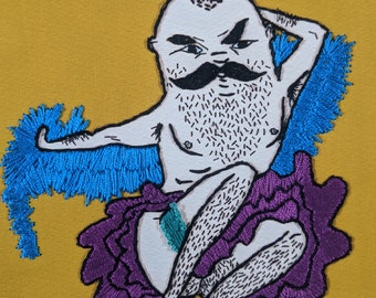 Fancy Embroidered Man PRINT gold