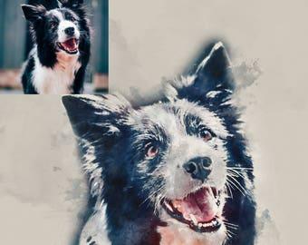 Pet Portrait, Pet Loss Gifts, Pet Memorial, Custom Pet Portrait, Pet Painting, Pet Print, Dog Portrait, Cat Portrait, Pet Watercolour, Art
