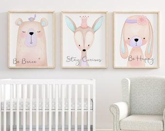 Baby Girl Nursery Wall Decorations girls nursery art | etsy