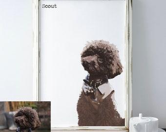 Custom Pet Portrait, Pet Loss Gifts, Pet Memorial Gift, Pet Art, Pets, Modern Pet Portrait, Memorial Gifts, Digital Art, Pet Lovers Gift