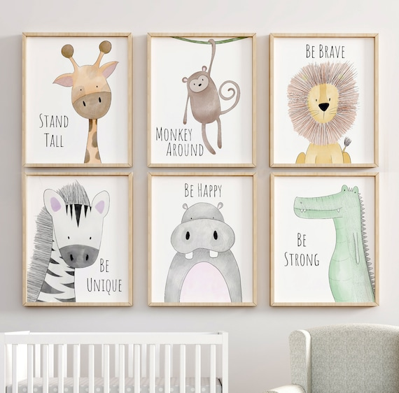 jungle nursery decor animal nursery prints quote nursery etsy