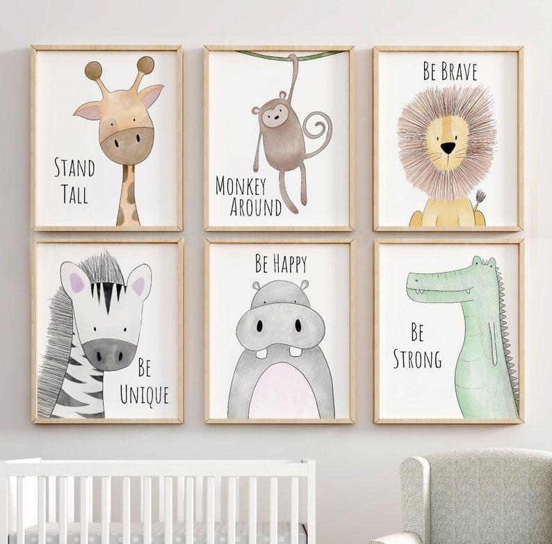 Safari Nursery Decor Animal Nursery Prints Quote Nursery image 0