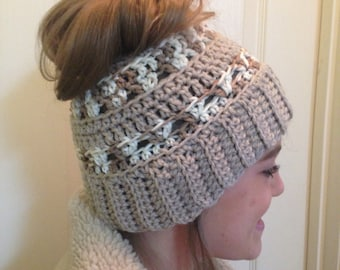 Crochet Pattern for Ponytail Hat