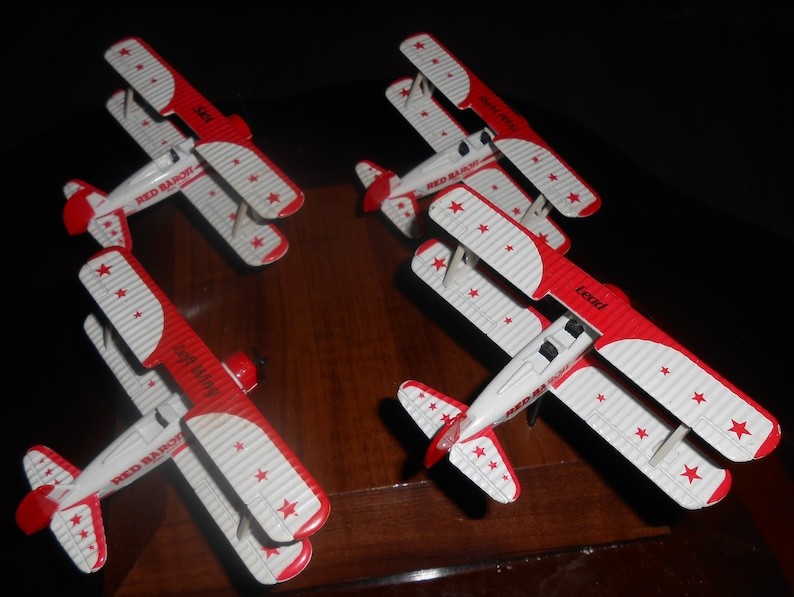 Red Baron Stearman Squadron Set - Diecast Metal