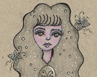 Oddity Collector - Butterfly Creature Girl Print