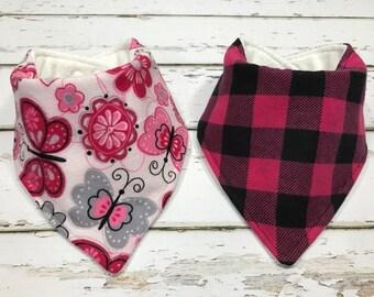 Organic Baby bib baby shower Gift Organic Bandana bib butterfly Bib Drool bib butterfly baby shower gift organic girl bib buffalo plaid bib