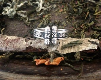 Sterling Silver Vintage Scroll Style Ring