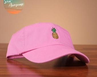 2b06e2f47d546 Pineapple Embroidered Baseball Hat
