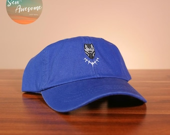 sale retailer 003b0 c2f6c Black Panther Dad Hat, Marvel Baseball Cap, Avengers Hat, Best Friend Gift,  Comic Book, Embroidered Hat