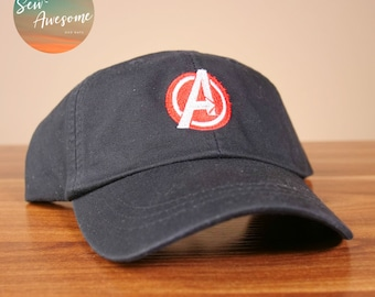 3f917d5b Avengers Dad Hat, Marvel Baseball Cap, Custom Embroidery, Best Friend Gift,  Personalized, Embroidered Hat