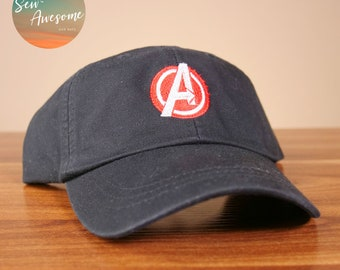 1c11c2a6 Avengers Dad Hat, Marvel Baseball Cap, Custom Embroidery, Best Friend Gift,  Personalized, Embroidered Hat