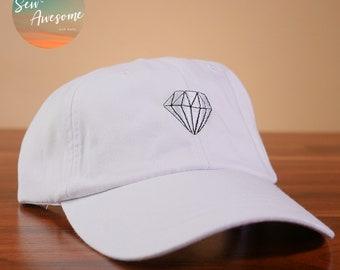 White Diamond Baseball Hat 162949a0ac2c