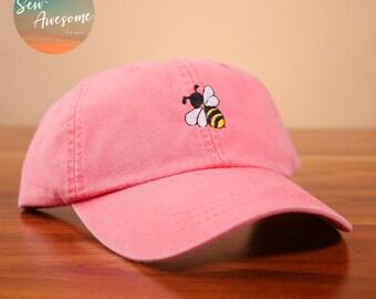 45eec8836eb Yellow Honey Bee Dad Hat