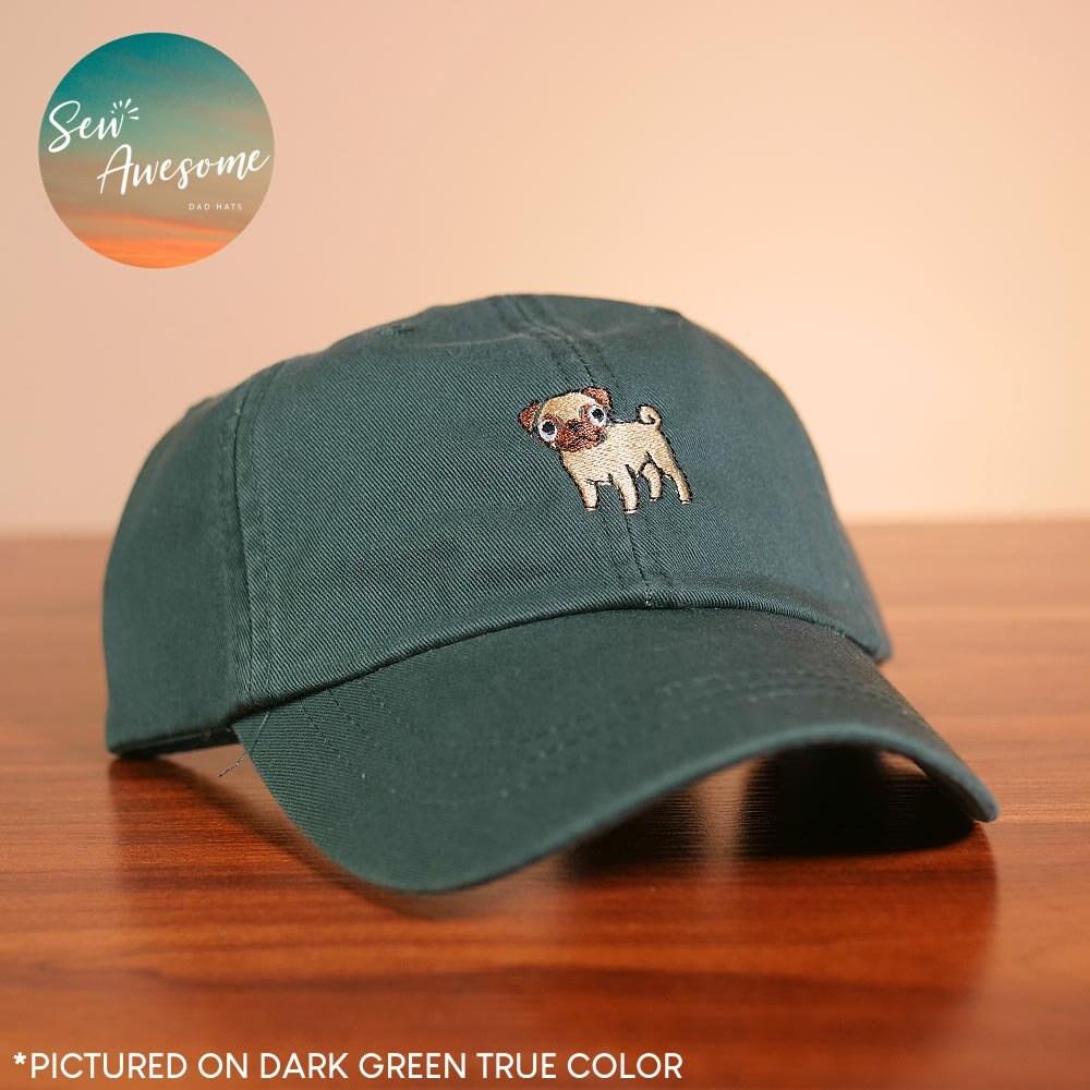 c9fe542a833 Pug Dad Hat Dog Baseball Cap Pet Custom Embroidery Best