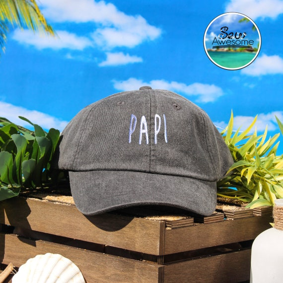 77e019c9e4e Papi Embroidered Dad Hat Papi Baseball Hat Fathers Day Gift