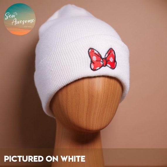 2e7891b2da5da Minnie Mouse Bow Beanie Disney Embroidered Beanie Winter