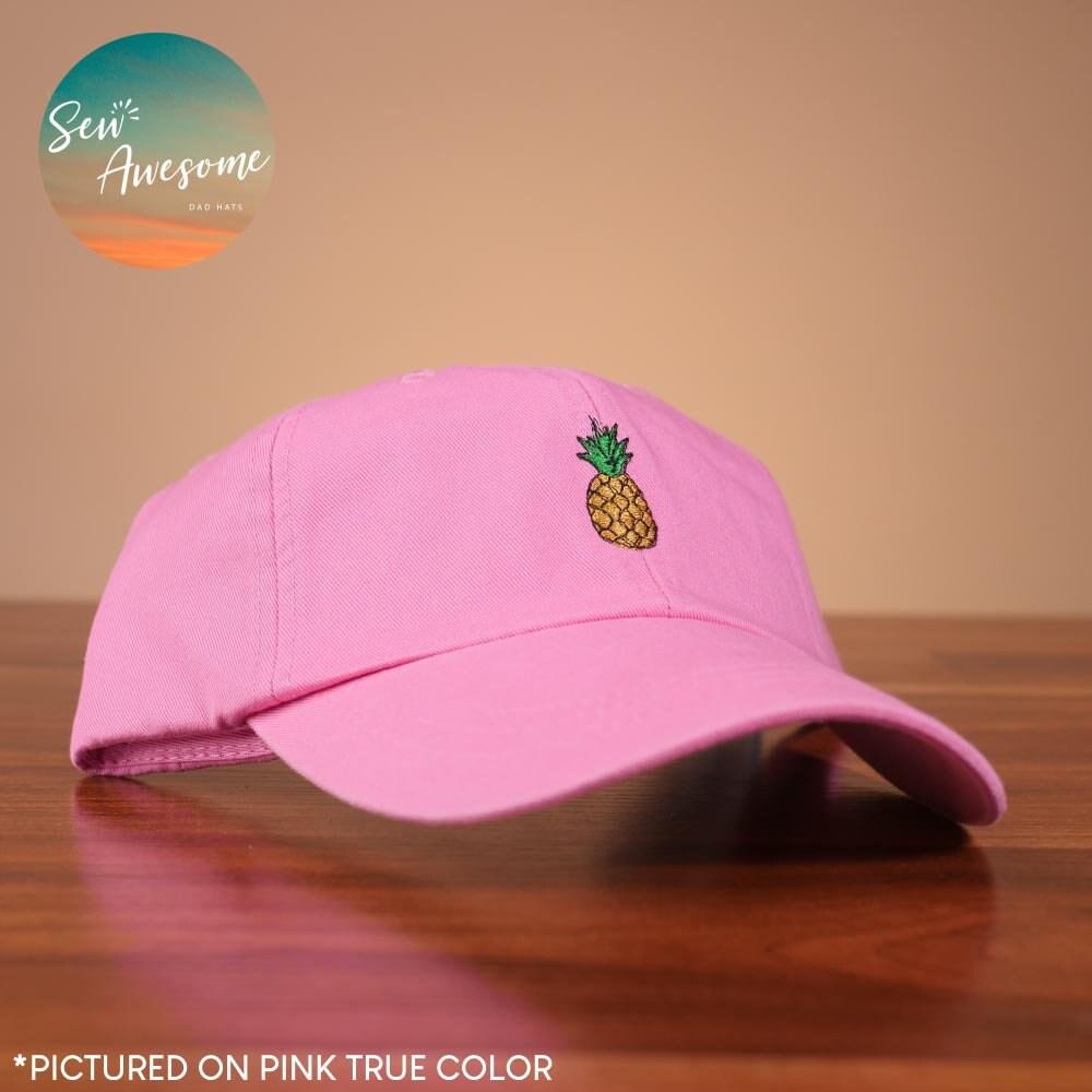 c5b463e56ed Pineapple Embroidered Baseball Hat Cute Pineapple Fruit Dad