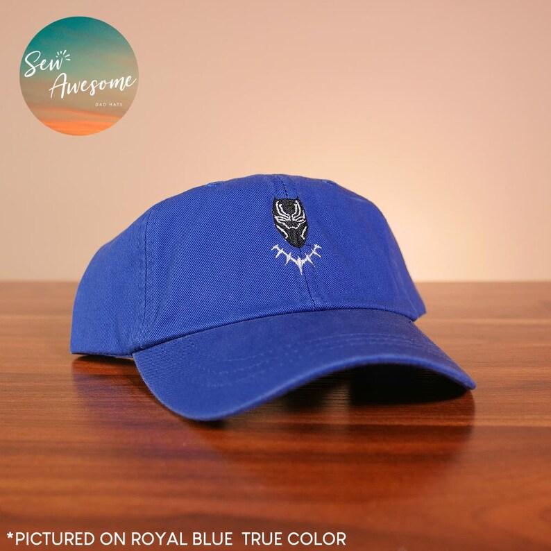 ebd5642ad7a05 Black Panther Dad Hat Marvel Baseball Cap Avengers Hat Best